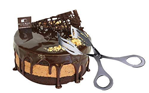 Kitchen Kemistry Edition 2019 Stainless Steel 8inch Long Scissor Cake Serving Tong ()