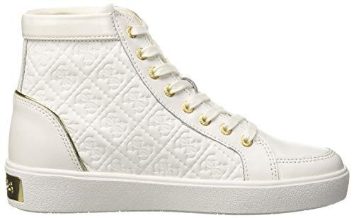 Guess white Donna Collo White A Sneaker Alto Bianco Grace 0XqwOr6n0