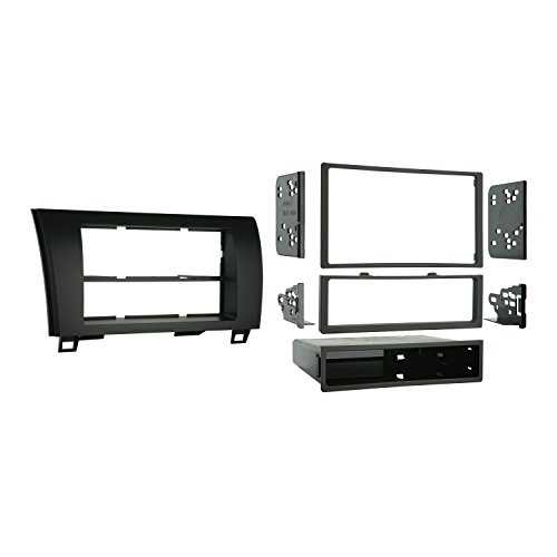 Metra 99-8220 Single/Double DIN Installation Kit for 2007-2009 Toyota Tundra/Sequoia, Standard Black - Tundra Single