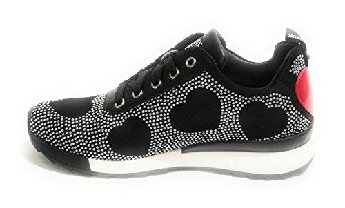 Negro Mujer para Moschino Zapatillas Negro 7TxPwzCq6