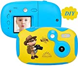 Kids Camera,Kids Digital Camera Mini Cute Toy Camera for Kids with 1.44 Inch Screen ,share Creative DIY Video Cam with Sticker + Replacement Shell