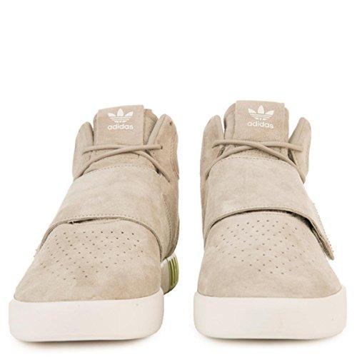 Adidas Pour Les Hommes: Invader Tubulaires Sésame / Sésame / Chaussures De Sport Sangle Semi-slime Solaire