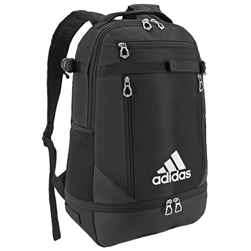 (adidas Unisex Utility Team Backpack, Black/Silver, One Size)