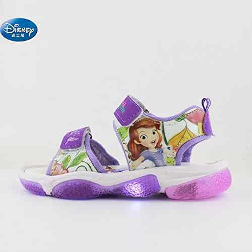 eede29f240fc 2019 New Girls Princess Sophia Sandals with led Light Spring Summer Children  Sport Beach Shoes Europe
