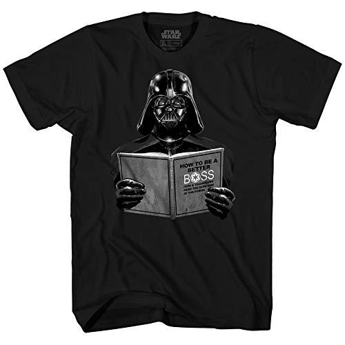 Star Wars Darth Vader Dark Side Empire Funny Humor Pun Youth Kid's Graphic Tee T-Shirt (Black, X-Small (8))