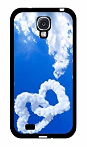 Cloud Hearts 2-Piece Dual Layer Phone Case Back Cover Samsung Galaxy S4 I9500