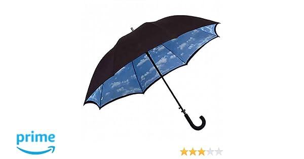 Paraguas bastón de toldo doble con diseño de nube, negro, Rob McAlister: Amazon.es: Ropa y accesorios