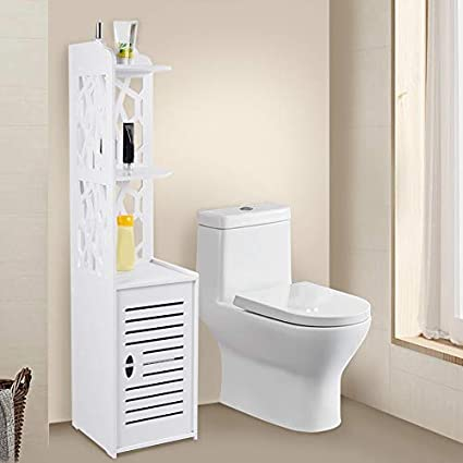 Floor Cabinet Tall Bathroom Corner Cabinet Hollow Out Slim Bathroom Cabinets Waterproof Standing Corner Shelf Free Standing Bathroom Cupboard Shelf Storage Rack Half Corner Unit White 120x29x29cm Amazon Co Uk Kitchen Home