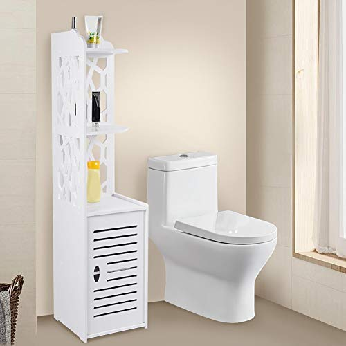 Floor Cabinet Tall Bathroom Corner Cabinet Hollow Out Slim Bathroom Cabinets Waterproof Standing Corner Shelf Free Standing Bathroom Cupboard Shelf Storage Rack Half Corner Unit White 120x29x29cm Buy Online In South Africa At Desertcart Co Za