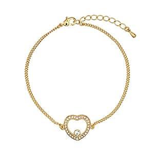 DSE By Swarovski 18K Gold Plated White Stone Bracelet, 5290075