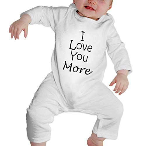KAYERDELLE I Love You More Long-Sleeve Unisex Baby Bodysuits for 6-24 Months Boys & Girls ()