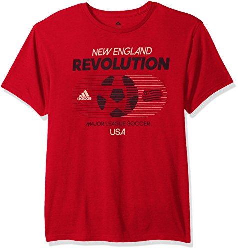 MLS New England Revolution Adult Men Soccer World Tri-Blend S/Tee,Large,Red