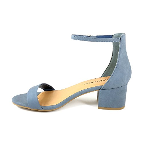 Classified Strap Open Heeled Ankle Block Toe Sandals Women's Mblue City FpYndd