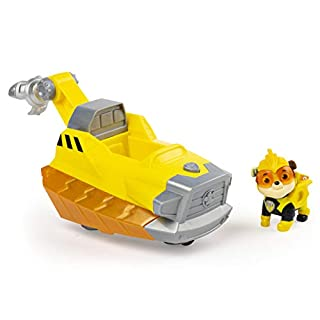 Paw Patrol, Mighty Pups Charged Up Rubble's Deluxe Vehicle with Lights and Sounds