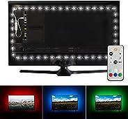 Luminoodle Professional Bias Lighting for HDTV, 15 Colors + 6500K True White LED TV Backlight, Adhesive RGB+W