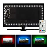 Luminoodle Professional Bias Lighting for HDTV | 15 Colors + 6500K True White LED TV Backlight Adhesive RGB+W Strip Lights with Wireless Remote, Dimmer - Pro - X-Large (41'-59' TV)