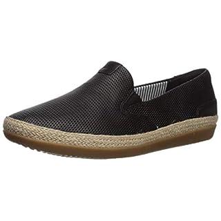 Clarks Women's Danelly Iris Loafer Flat, Black Leather, 7 W US