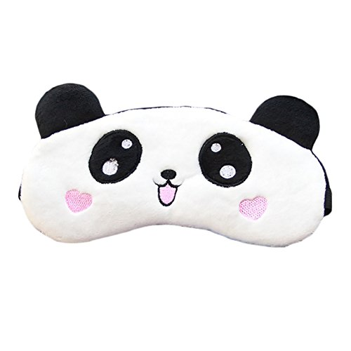 Funbase New Panda Travel Sleep Eye Mask Lightproof Blindfold Portable Nap Cover ()