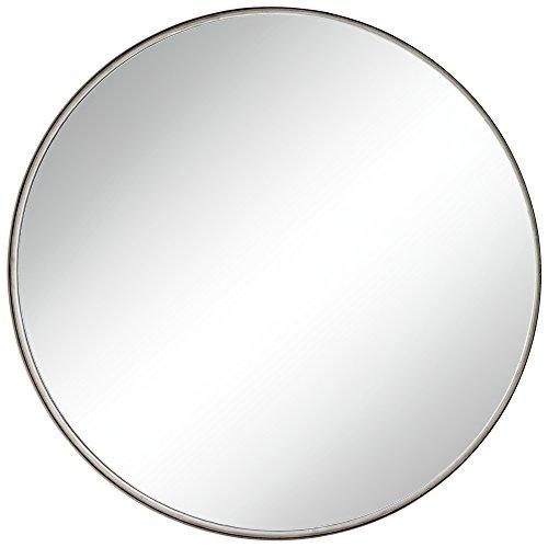 """Uttermost Sierra Antique Silver 34"""" Round Wall Mirror"""