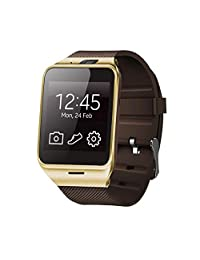 Celendi Bluetooth Smart Watch Sport Watch Camera Touch Screen for Samsung HTC Huawei Android Phone (Gold)