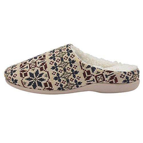 Beige Ambrosine Dunlop chaussons femmes ou AMORETTE Xxv4xBq6