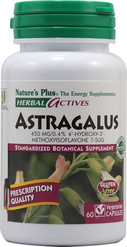 Nature's Plus Herbal Actives Astragalus -- 450 mg - 60 Vegetarian Capsules - 2pc by Nature's Plus