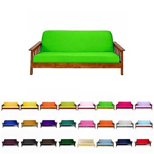 Magshion@Futon Cover Slipcover (Lime, Full (54x75 in.))