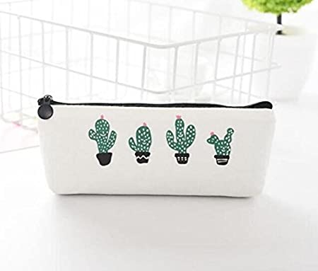 JinZhiCheng - Estuche de lona con diseño de cactus para estudiantes, material escolar: Amazon.es: Hogar