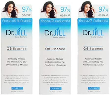 3 Units Dr.Jill G5 ESSENCE Reducing Wrinkle Whitening Anti-aging moisturizing skin