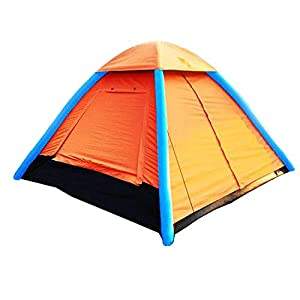 IHUNIU, INC. 3-4 Person Inflatable Camping Pop up Tent Waterproof for Beach,Camp,Travel,Hiking,Survival with Air Pump