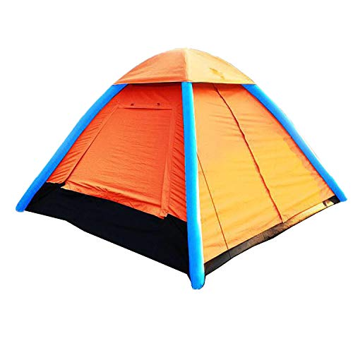 IHUNIU, INC. 4 Person Inflatable Camping Air Pop Up Tent Waterproof for Beach, Camp, Travel, Hiking, Survival with Air Pump