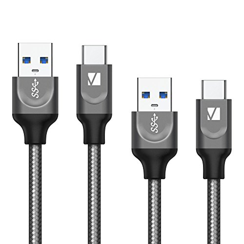 USB C Cable, iVanky USB C to USB A Charger (4ft, 2 Pack), Nylon Braided USB Type C Cable Fast Charging Cord Compatible with Samsung, Huawei, Xiaomi, MacBook, Google Pixel, Moto and More