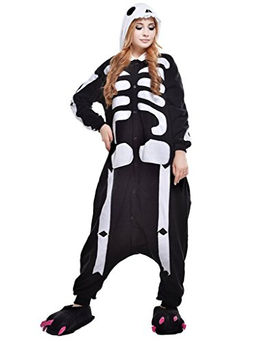 Cosplay Costumes Kigurumi Anime Skulls Outfits Adults Pajamas Onesie (X-Large, (Skeletor Cosplay Costume)