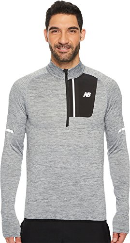 at Half Zip Shirt, Large, Athletic Grey (New Balance Woven Shirt)