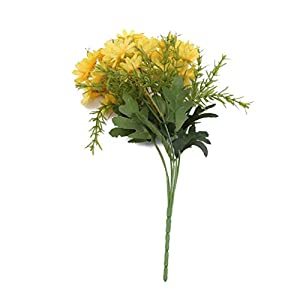 GOMYIE Artificial Wild Chrysanthemum Flowers Silk Simulation Daisy Bouquet Plant Bundle for Home Office Decoration(Yellow) 84