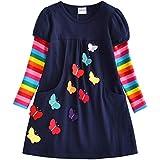 VIKITA 2018 Toddler Girls Dresses Long Sleeve Girl Dress Kids 3-8 Years LH5805, 6T