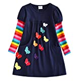 VIKITA 2018 Toddler Girls Dresses Long Sleeve Girl Dress for Kids 3-8 Years LH5805, 8T