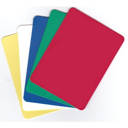 Set of 5 Plastic Poker Cut Cards (Assorted Colors) CHH Quality Products Inc.