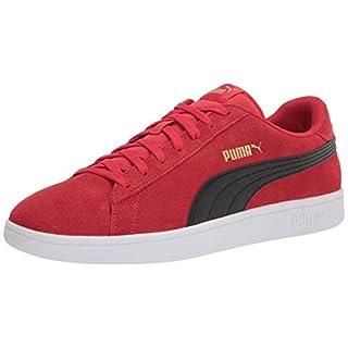 PUMA Men's Smash 2 Sneaker, High Risk Red Black Team Gold, 9