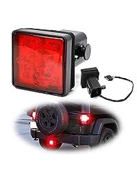 Objetivo Red iJDMTOY LED de la cola / luz de freno para 3/4/5 2 pulgadas receptor de enganche de remolque de camión de remolque Clase SUV, con tecnología de 15 super brillante Bombillas LED rojo