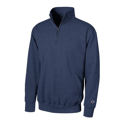 Champion Men's Eco Fleece 1/4 Zip Sweatshirt_Navy_Large ()