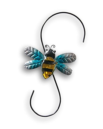 Bumblebee Decorative Metal Lawn Hook for Planter or Birdhouse - 12 Inches