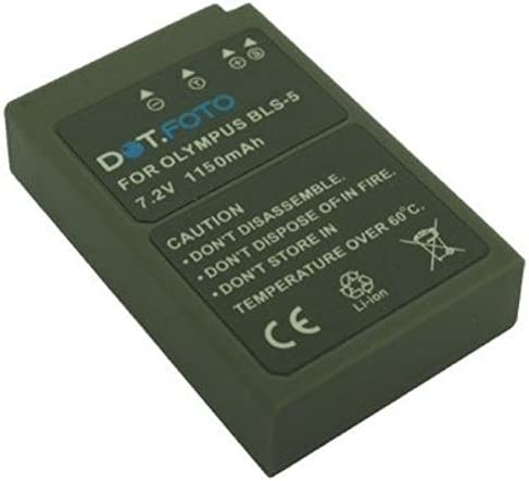 Olympus BLS-5, BLS-50 PREMIUM Dot Batería de Reemplazo - 7.2V/1150mAh - Garantía de 2 años