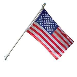 TANGLE-FREE FLAG POLE W/ FLAG EA