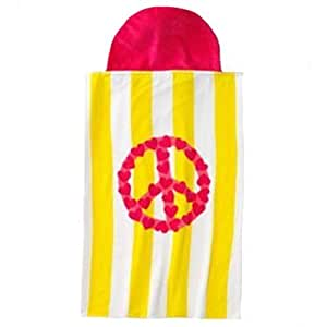 Jumping Beans?Peace Sign Hooded Beach Towel Wrap by Jumping Beans