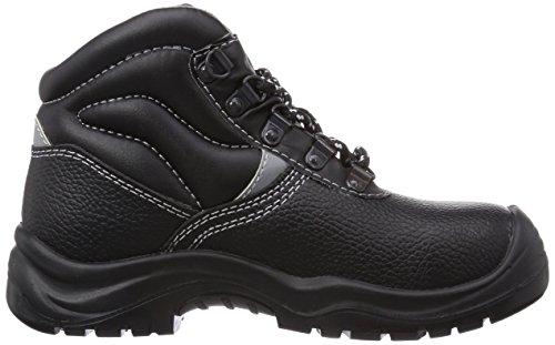 Wortec Basic Mid S3 - Calzado de protección Unisex adulto Negro/ Negro