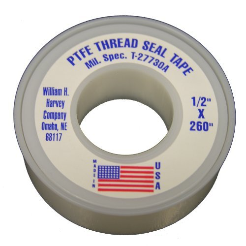 LASCO 11-1032 1/2-Inch by 260-Inch Double Density PTFE Thread Seal Tape, White by LASCO