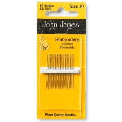 John James Embroidery Needles Size 10
