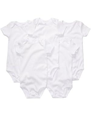 5 Pack Shortsleeve Bodysuits -- white size: 24 months