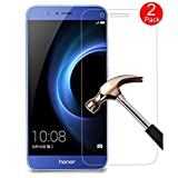 Kepuch Huawei Honor V9 / Honor 8 Pro Screen Protector - 2 Pack Tempered Glass Film 9H Hardness Curved Edge Protection for Huawei Honor V9 / Honor 8 Pro